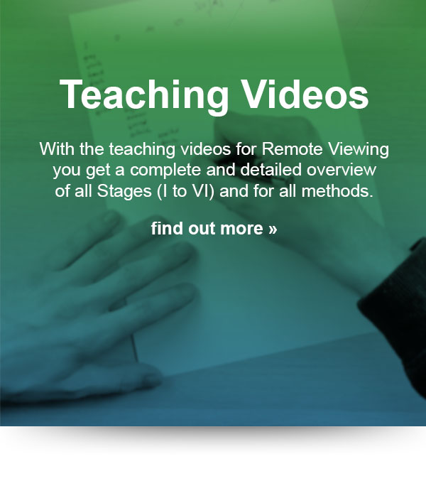 With the teaching videos for Remote Viewing you get a complete and detailed overview of all stages and for all methods.
